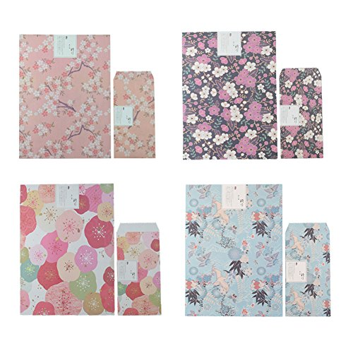Ziye Shop Vintage Stationery Cherry Blossom Flower Letter Writing Paper and ()