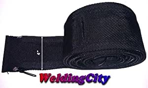 """WeldingCity TIG Welding Torch Cable Cover Nylon 12' (L)x4""""(W) with Zipper for Torch 18 and 26"""
