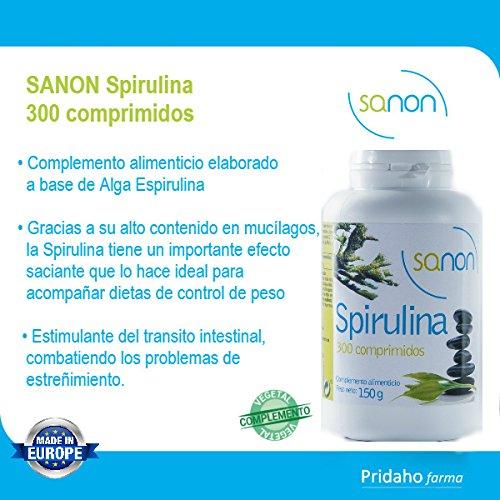 SANON - SANON Spirulina 300 comprimidos de 500 mg: Amazon.es: Salud y cuidado personal