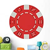 Casino Poker Chip Wall Mural by Wallmonkeys Peel and Stick Graphic (48 in W x 45 in H) WM366580