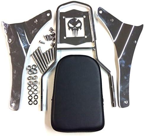 SMT Chrome Skull Backrest Sissy Bar Compatible With 20052012 Suzuki Boulevard M50 VZ800 C50 VL800 C50T VL800T C50C VL800C 20012004 Suzuki Intruder Volusia 800 VL800 B0175JIXYI