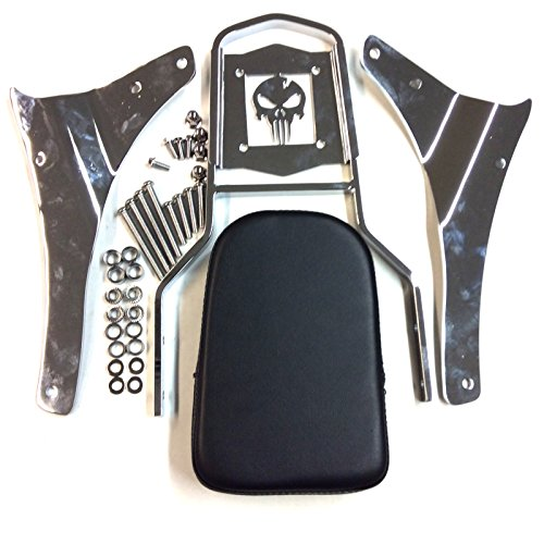 (XKMT-Awesome Skull Zombie Style Backrest Sissy Bar Compatible With Suzuki Boulevard M50 C50 Volusia VL800 VZ800 VL800 VL800T [B0175K1D9E])