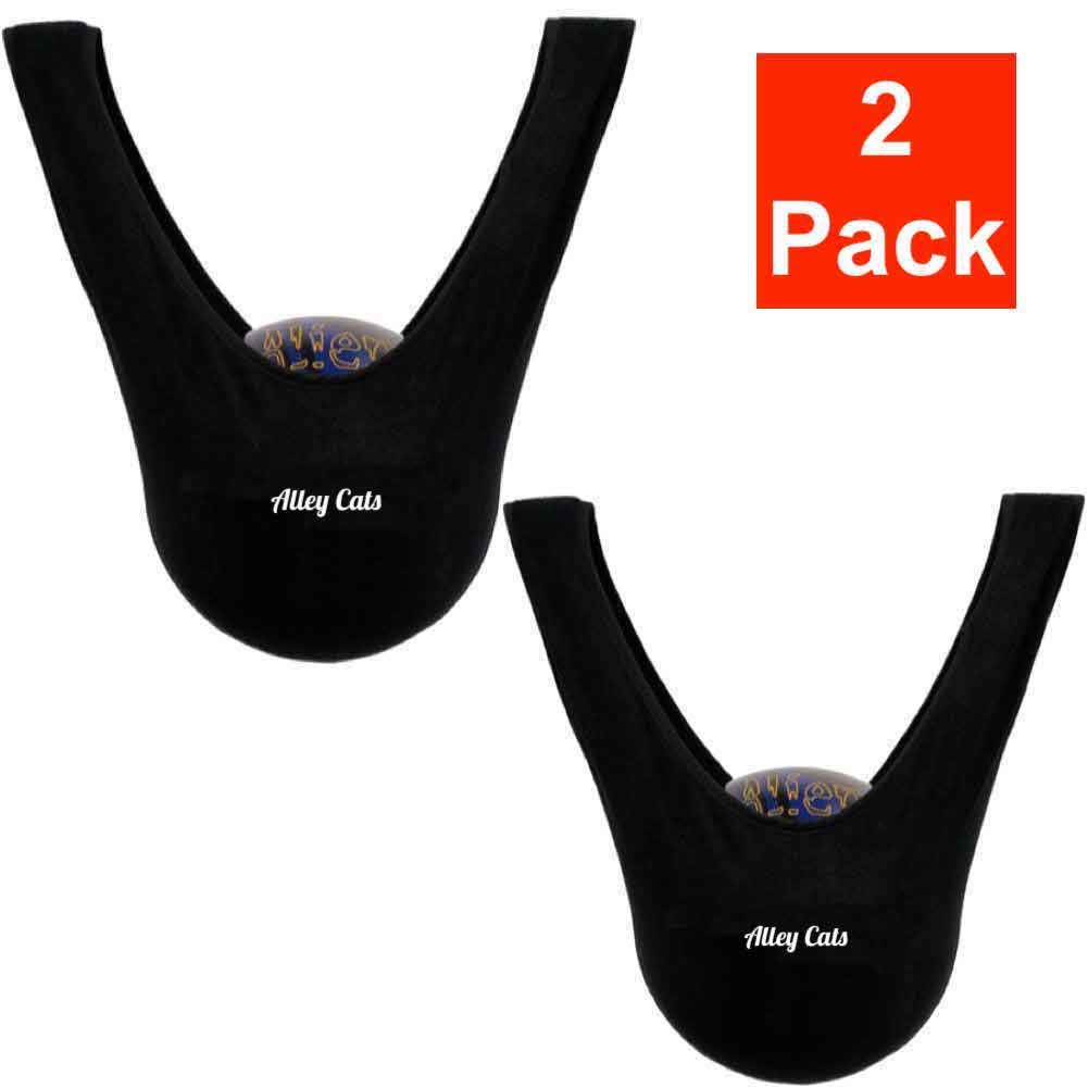 Bowling Ball Seesaw 2 Pack   Black Microfiber   Best Value Around   Premium See Saw Polisher/Cleaner Towel
