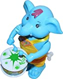 Zaid Collections Kid's Plastic Musical Elephant Drum (Multicolour, zc$416)
