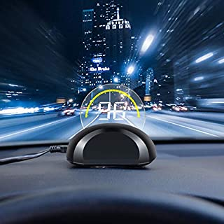 Sale DRIVIM Car HUD Head Up Display [OBD2] Multifunctional Car Speed Display Projector with/Engine RPM/Voltage/Safety Water Temperature Monitor Vehicle Over Speed/Fault Alarm for Gasoline Car (Black)