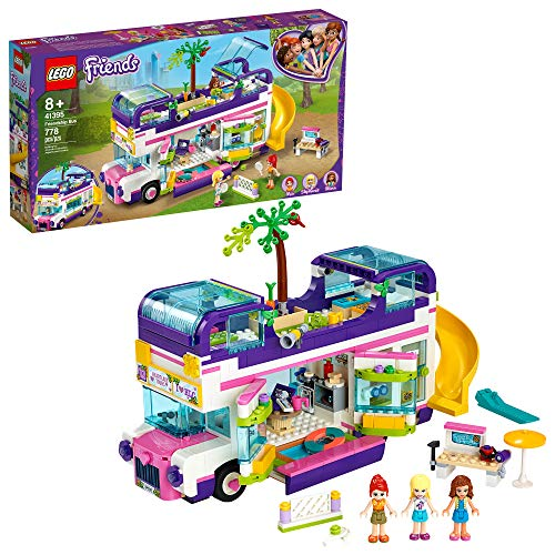 LEGO Friends Friendship Bus 41395 Heartlake City Toy Playset Building Kit Promotes Hours of Creative Play, New 2020 (778 Pieces)