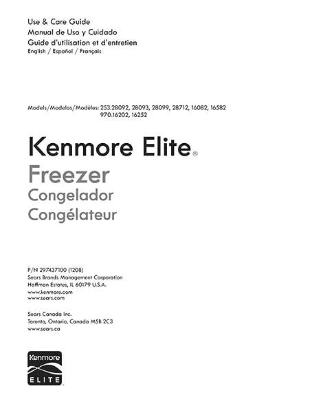 amazon com kenmore elite 216980300 freezer owner s manual for rh amazon com kenmore elite owners manual download kenmore elite owners manual download