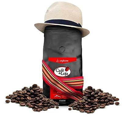 Café de Loja Gourmet Whole Bean Coffee - Medium / Dark Roast Arabica Best for French Press and Espresso Fresh High Quality 100% Single Origin Washed Arabica