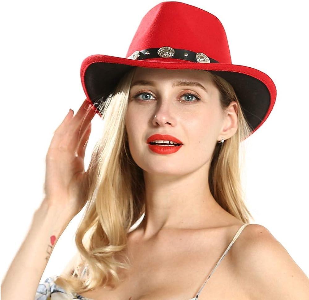 ZGQA Red Western Cowboy Hat...