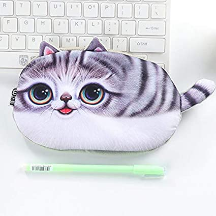 Amazon.com : Kawaii Pencil Case Novelty cat Flannel School ...