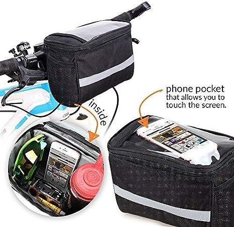 Cofi1453 Mochila Manillar Bolso de Bicicleta Lenkradtasche Manillar Bolso Bici Bolsa Bolsa de Bicicletas Móvil Compartimentos Accesorio Bicicleta con Touch Ventana para Smartphone: Amazon.es: Deportes y aire libre