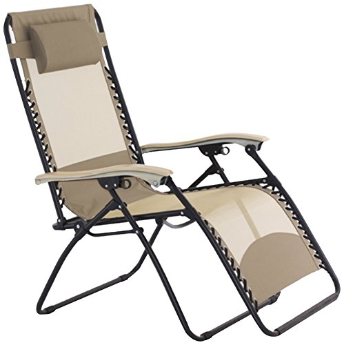 ERGOLOUNGER XL ZERO GRAVITY CHAISE LOUNGER WITH COOL MESH...