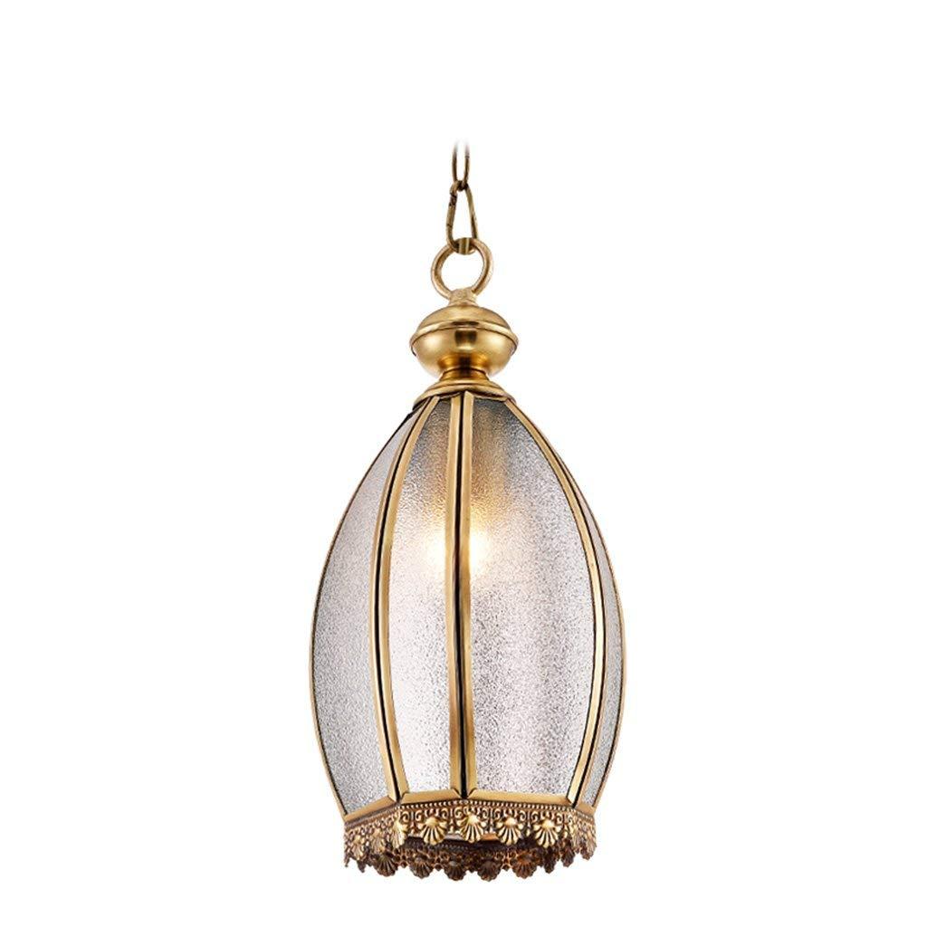 Kronleuchter aus Kupfer Kupfer Leuchte Wohnzimmer Schlafzimmer Bar Kronleuchter Lampe Lampen Villa Gang im Freien Leuchten Beleuchtung Wählen (Farbe  Messing)