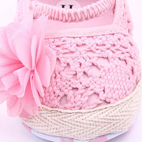 EOZY Shoes Summer Flor De Tul Tejido Zapatos Para Bebé Niñas Primero Paso Rosa 13cm