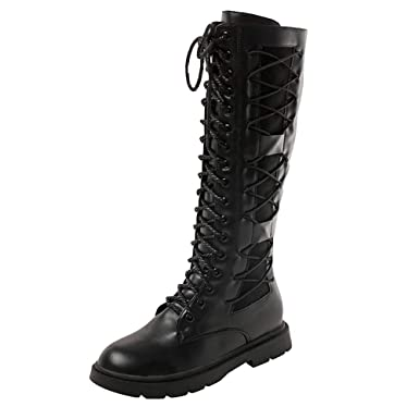 e1df7e9fcd1 DENER❤ Women Winter Knee High Combat Boots