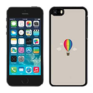 Popular And Durable Designed Case For iPhone 5C With Hot Air Balloon Illustration Phone Case