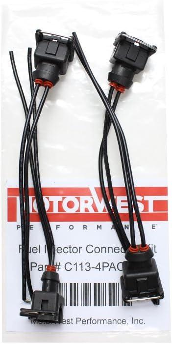 MotorWest Performance C113 EV1 Female Fuel Injector Connector Set of 4