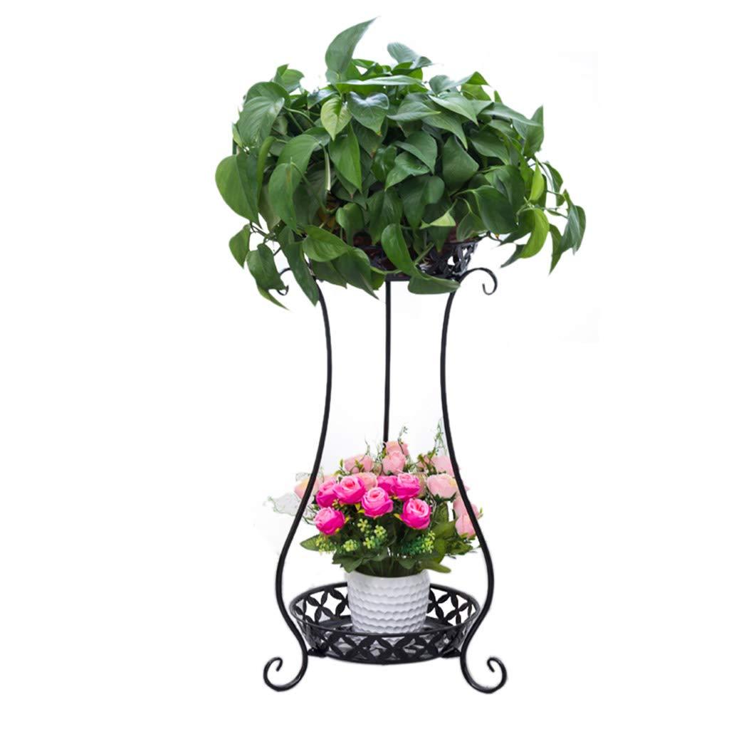 Xin® Mensola per Fiori in Ferro da Fiore con Piedistallo da Pavimento in Ferro