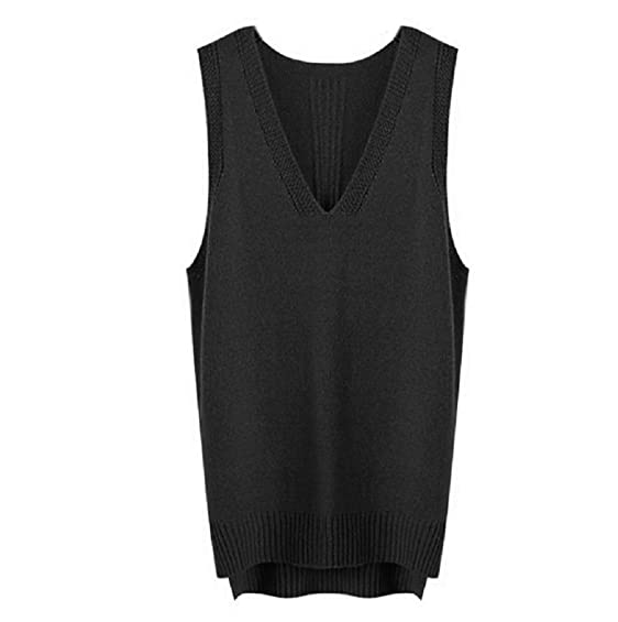 Nanxson(TM) Women's V-Neck Winter Sleeveless Sweater Cardigan ...