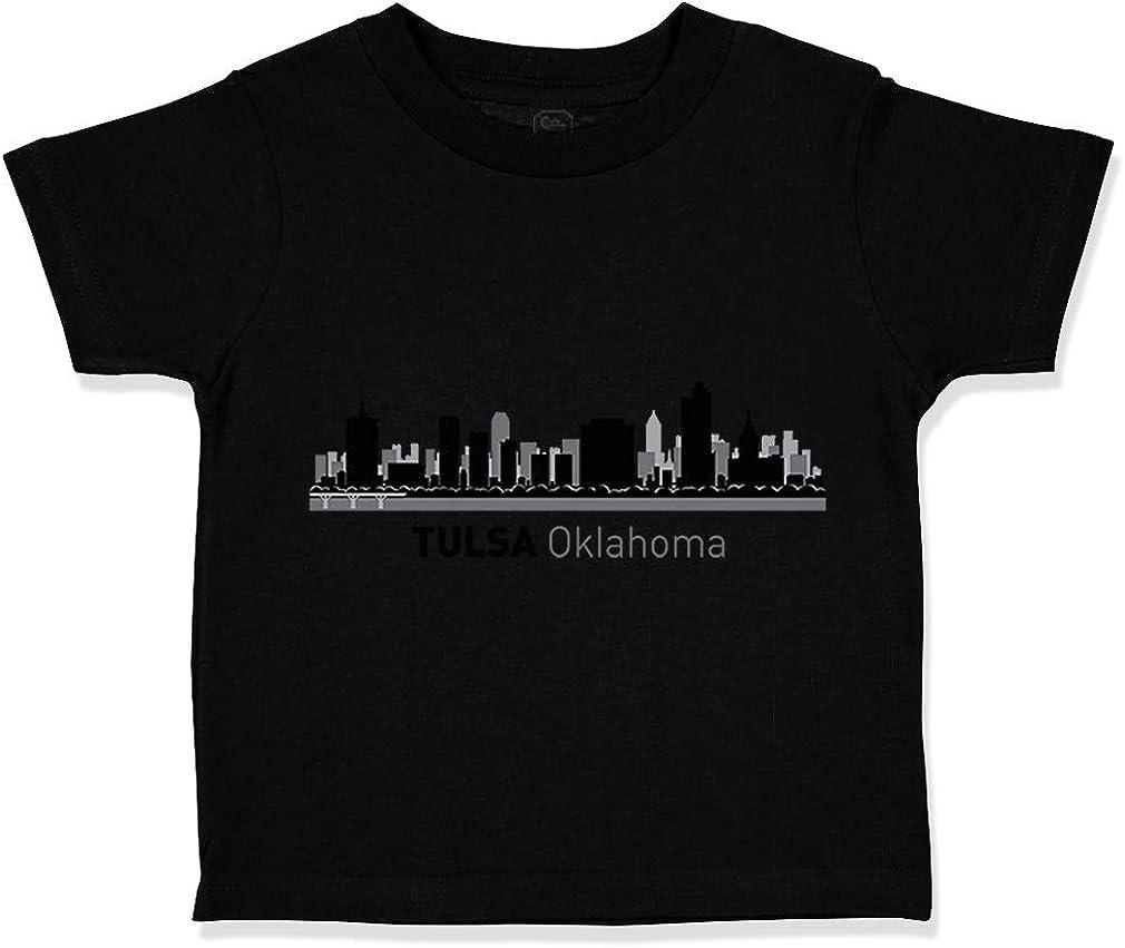 Custom Toddler T-Shirt Tulsa City Pride Cotton Boy /& Girl Clothes