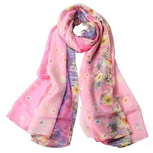 くま厚くする肉屋女性の女性の暖かいロングスカーフ薄いフラワースカーフネッカーコフネックウォーマー、風と花