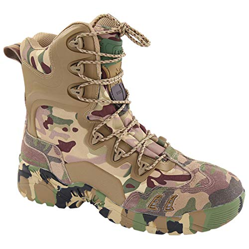- NAWING Hunting Tactical Boots Military Camouflage Zipper Ankle Hiking Travel Combat Shoes
