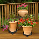 Akarden Plant Caddy Heavy Duty Plant Pot Move Plant Stand with Wheels 1 Pack