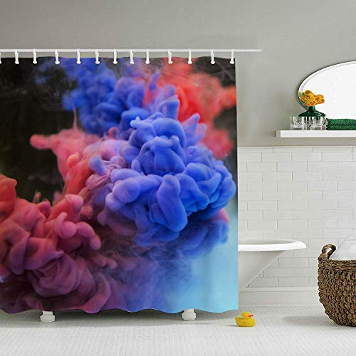 Abaysto Multicolored Smoke Bathroom Decor Shower Curtain Sets with Hooks Waterproof Mildew Easy Clean Polyester Fabric Holiday Great Gift -