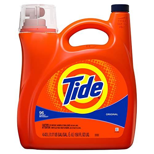 (Tide Liquid Laundry Detergent, Original, 96 Loads 150 fl oz(Packaging May)