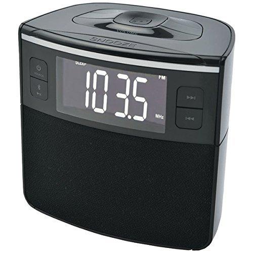 SYLVANIA SCR1986BT-AS Bluetooth Clock Radio with Auto-Set Du