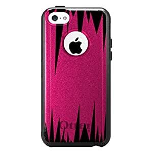 CUSTOM OtterBox Commuter Series Case for Apple iPhone 5C - Hot Pink Black Spikes