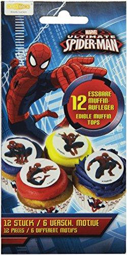 Dekoback Zucker-Muffinaufleger Spiderman, 1er Pack (1 x 21 g)