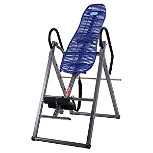 New Foldable ABS Inversion Table Gravity Therapy Back Pain Fitness Reflexology Blue