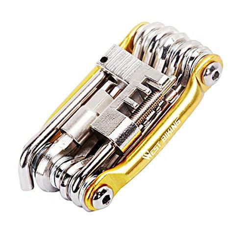 WEST Biking Mini Repair Tool 11 in Tool Bicycle Road Cycling Wrench Moutain 1 Bike Multi Tools Repair Repair Bike Tools Kit