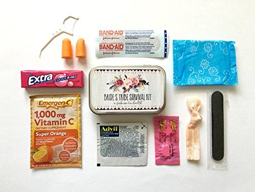Party Survival Kit - Sweet Talk Designs Complete Bachelorette Party Bride's Tribe Survival Kits - Filled Tins