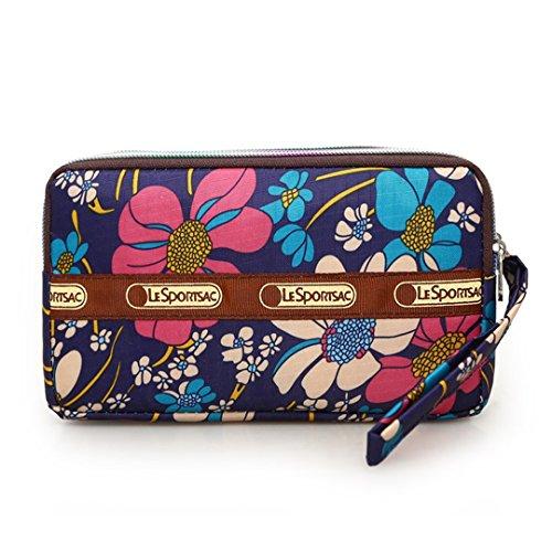 Fabric Wallet Clutch - Bags us Wallet Zipper Long Wallet Coin Bag Purse Three Layer Wristlet Handbag Clutch Bag Tote Phone Bag
