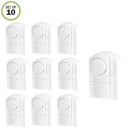 Evelots Wireless Door & Window Alarms, Entrance Alerts, White- Set/10