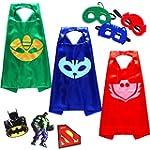 Zaleny PJ Masks Costumes For Kids Set...