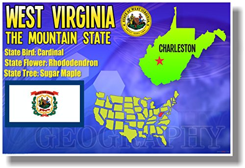 West Virginia - NEW U.S Travel Poster