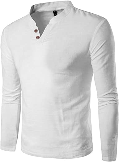 Camisa con Cuello En V para Hombre Camiseta De Color Ropa de ...