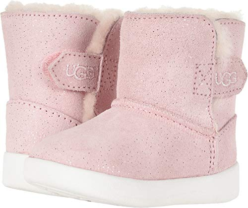 UGG Girls' I Keelan Sparkle Fashion Boot, Baby Pink, 4/5 M US Infant