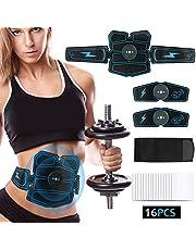 【2019 Neue Version 】EMS Bauchmuskeltrainer, XXWECO EMS Training Muskelstimulator USB Wiederaufladbar EMS Trainingsgerät für Körperbau und Fettverbrennung