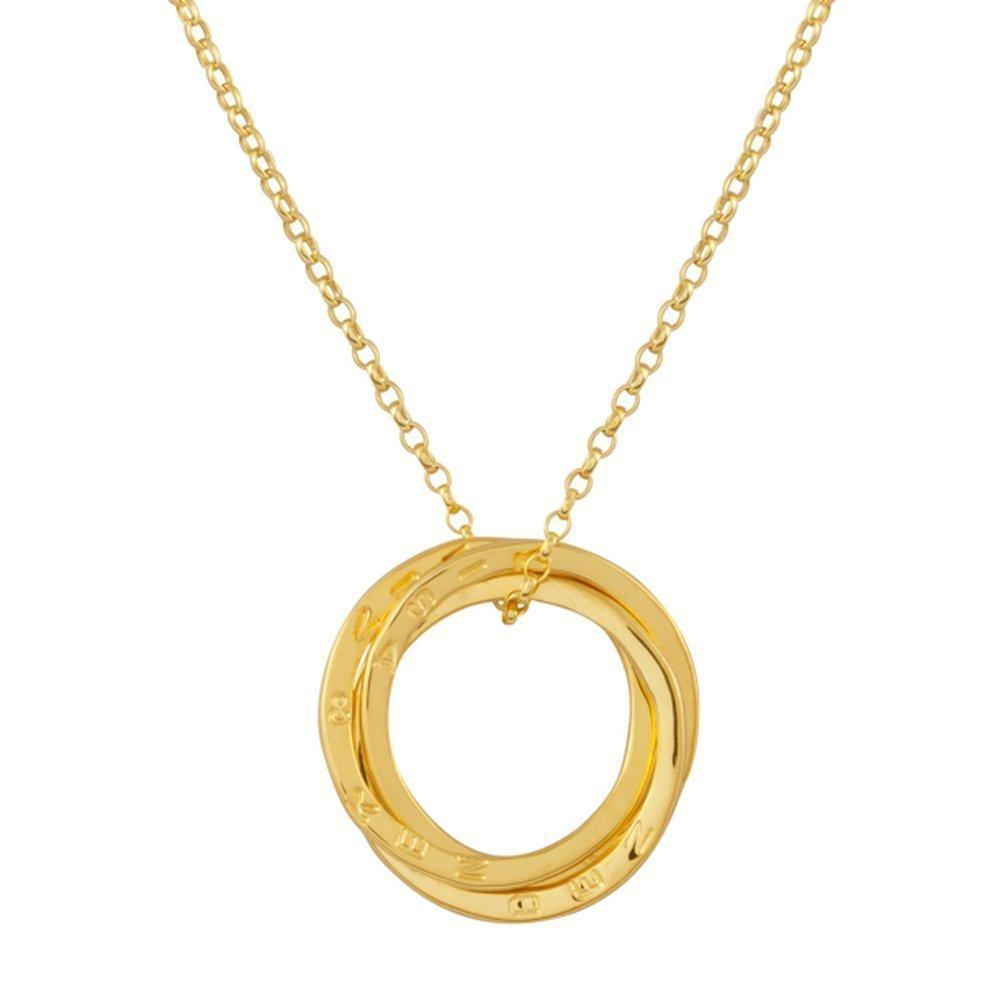 b4e369878666 Colgante Ruso personalizado tres anillos entrelazados de plata esterlina