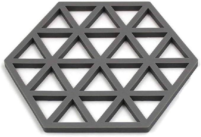 BESTZY 4pcs Dessous de Plat en Silicone avec Qualit/é Premium Isotherme Souple Durable Antid/érapant Coussinets et Dessous