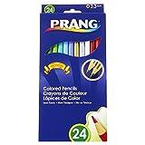 Prang Pre-Sharpened 7-Inch Colored Pencils, 24-Color Set (22240)