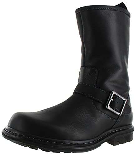 Dr Martens Mens Falan Zip Rig Buckle Boot Black 7 UK8