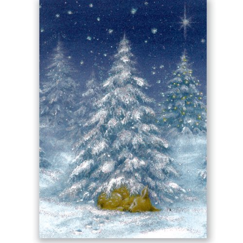 Sleeping Deer Holiday Boxed Cards (Christmas Cards, Holiday Cards, Greeting Cards)