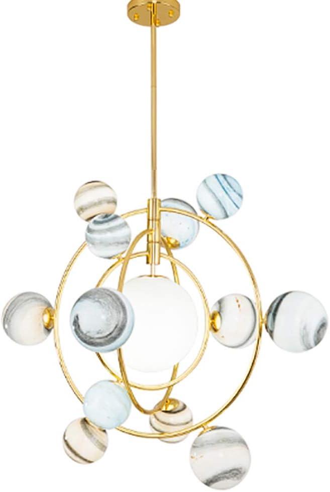 CCSUN Nordic Modern Glass Ball Globe Chandelier, Creative