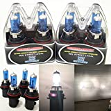 9007 5000k headlight bulbs - Mega Racer M-Box Combo 4 Pc 9007-HB5 (Low/High Beam) 100/80W White 5000K Halogen Headlight Lamp Light Bulb Auto