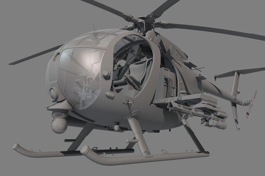 KH50003 Figures for AH-6J//MH-6J Little Bird